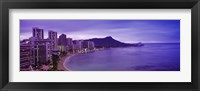 Framed Diamond Head, Waikiki, Oahu, Honolulu, Hawaii