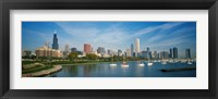 Framed Skyscrapers in a city, Chicago, Illinois