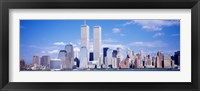 Framed USA, New York City, with World Trade Center