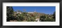 Framed USA, California, Los Angeles, Hollywood Sign at Hollywood Hills