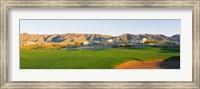 Framed Golf flag in a golf course, Phoenix, Arizona, USA