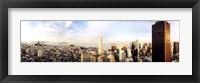Framed High angle view of a city, Transamerica Building, San Francisco, California, USA