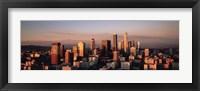 Framed Skyline At Dusk, Los Angeles, California, USA