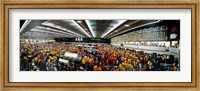 Framed Traders in a stock market, Chicago Mercantile Exchange, Chicago, Illinois, USA