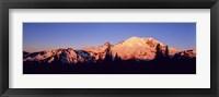 Framed Sunset Mount Rainier Seattle WA