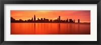 Framed USA, Illinois, Chicago, sunset