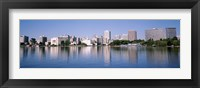 Framed Panoramic View Of The Waterfront And Skyline, Oakland, California, USA
