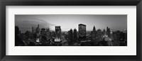 Framed Black and White View of Chicago Skyline