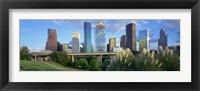Framed Aerial View of Houston Skyscrapers, Texas