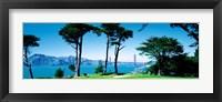 Framed Golf Course w\ Golden Gate Bridge San Francisco CA USA