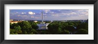 Framed Aerial View of White House, Washington DC