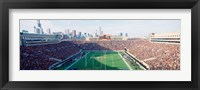Framed High angle view of spectators in a stadium, Soldier Field (before 2003 renovations), Chicago, Illinois, USA