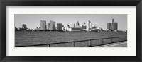Framed Detroit Waterfront, Michigan (black & white)