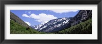 Framed Clouds over mountains, Little Cottonwood Canyon, Salt Lake City, Utah, USA