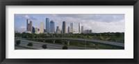 Framed Houston Skyline from a Distance, Texas, USA