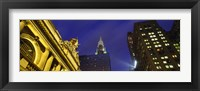 Framed Night, Chrysler Building, Grand Central Station, NYC, New York City, New York State, USA