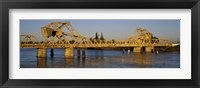 Framed Drawbridge across a river, The Sacramento-San Joaquin River Delta, California, USA