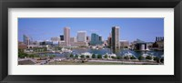 Framed Inner Harbor Skyline Baltimore MD USA