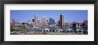 Framed Inner Harbor Skyline Baltimore MD USA