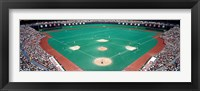 Framed Phillies vs Mets baseball game, Veterans Stadium, Philadelphia, Pennsylvania, USA
