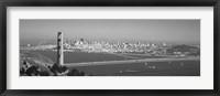 Framed Golden Gate Bridge, San Francisco, California, USA (black & white)