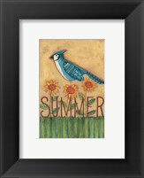 Framed Summer Blue Jay