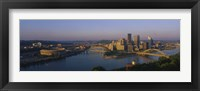 Framed High angle view of a city, Three Rivers Stadium, Pittsburgh, Pennsylvania, USA