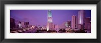 Framed City In The Dusk, Miami, Florida, USA