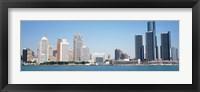 Framed Close-Up of Detroit Skyline