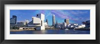 Framed Cleveland, Ohio Skyline from the Waterfront