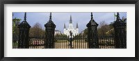 Framed Facade of a church, St. Louis Cathedral, New Orleans, Louisiana, USA