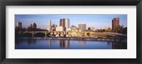 Framed Bridge across a river, Scioto River, Columbus, Ohio, USA