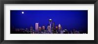 Framed Moonrise, Seattle, Washington State, USA