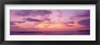 Framed Clouds in the sky at sunset, Pacific Beach, San Diego, California, USA