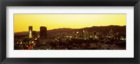 Framed Hollywood Hills, Hollywood, California, USA