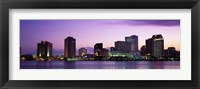 Framed Dusk Skyline, New Orleans, Louisiana, USA