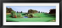 Framed Pond at a golf course, Baltimore Country Club, Baltimore, Maryland, USA