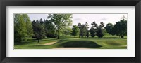 Framed Sand traps on a golf course, Baltimore Country Club, Baltimore, Maryland