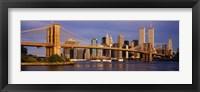 Framed Bridge over a river, Brooklyn Bridge, Manhattan, New York City, New York State, USA