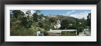 Framed Low angle view of a hill, Hollywood Hills, City of Los Angeles, California, USA
