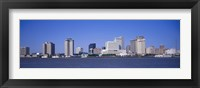 Framed Buildings at the waterfront, Mississippi River, New Orleans, Louisiana