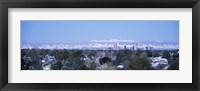 Framed Denver Skyline with Mountains