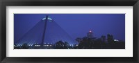 Framed Night The Pyramid and Skyline Memphis TN USA