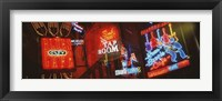 Framed Neon Signs, Beale Street, Memphis, Tennessee, USA