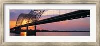 Framed Sunset, Hernandez Desoto Bridge And Mississippi River, Memphis, Tennessee, USA