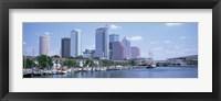 Framed Skyline & Garrison Channel Marina Tampa FL USA