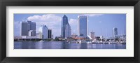 Framed Skyscrapers at the waterfront, Main Street Bridge, St. John's River, Jacksonville, Florida, USA