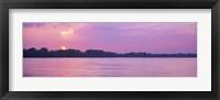 Framed Sunset Mississippi River Memphis TN USA