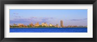 Framed Buffalo skyline, Niagara River, Erie County, New York State