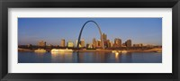 Framed St. Louis Skyline with arch